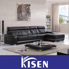 Modern contemporary furniture 4 seater leather sofa
