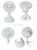 12V DC Electric Powered Small Size 6 inch Emergency Mini Table Fan/ Clip Fan with Lowest Price for Outdoor/Indoor Use
