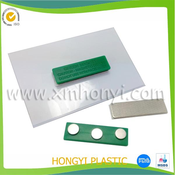 Transparent Pvc Name Card Tag Holder Swivel Clip Badge