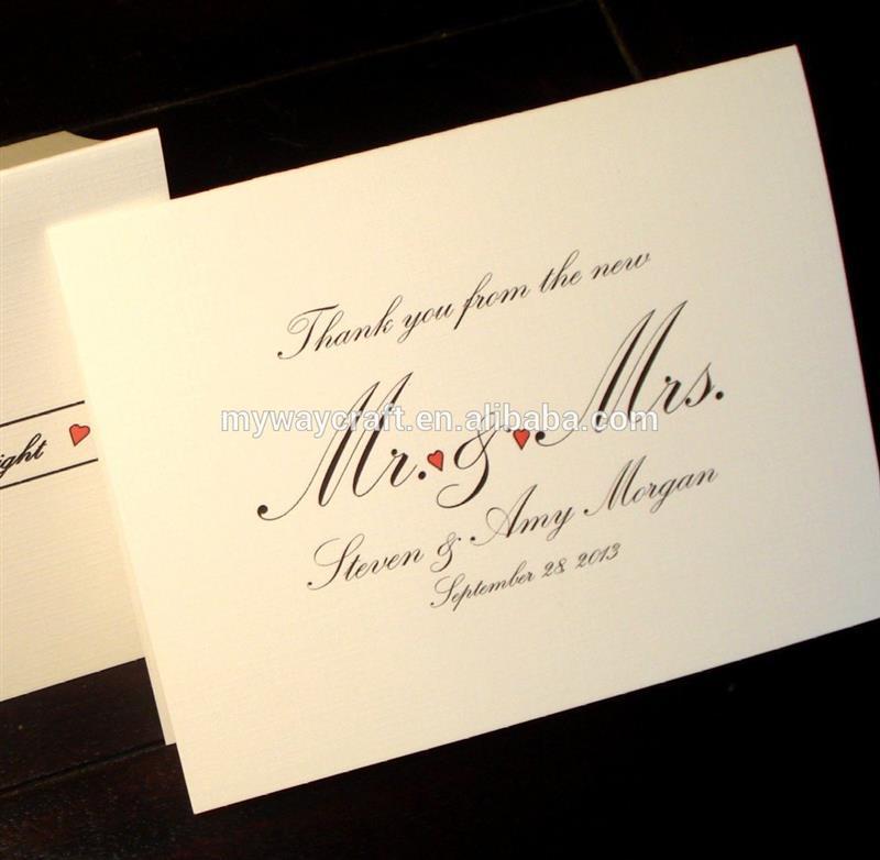 Nota de Agradecimento de Casamento Cartões de artigos de Papelaria personalizados com Envelopes, Impressão de Cartões de casamento