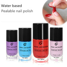 Free chemical high glossy water based easy peel off nail polish for kids