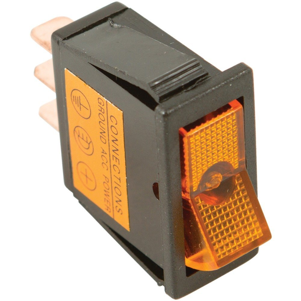 BATTERY DOCTOR 20531 On/off Amber Illuminated 20-Amp Rocker for 12mm x 30mm Slot