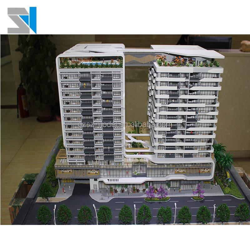 Профессиональный производитель архитектурной модели, 3d Строительная модель из полистоуна