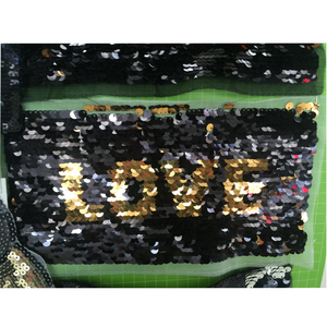 factory direct reversible sequin fabric sequin embroidery design two color sequin fabric