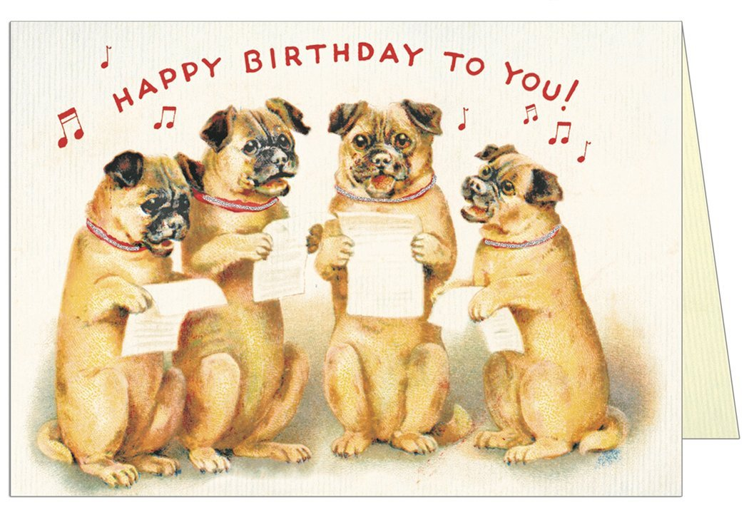 Singing Dogs Happy Birthday Greeting Card