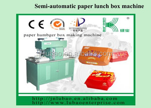 semi-auto paper food box making machine with brand spare parts