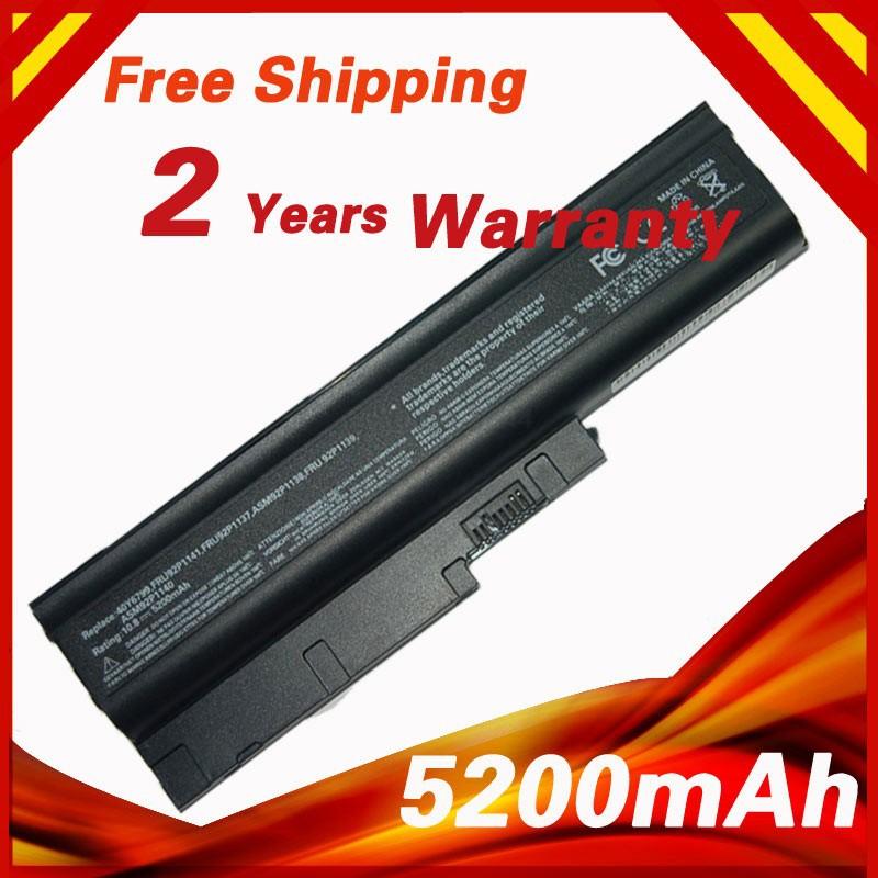 5200 мАч для ноутбука Lenovo Thinkpad R61 R61E R61i T500 T60 T60p T61 T61P W500 92P1137 92P1139 92P1141 R500 40Y6799