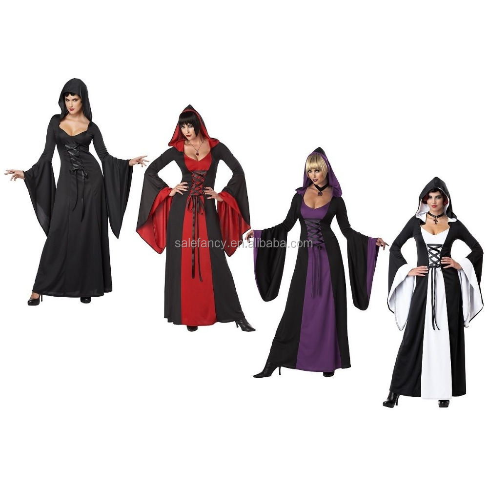 Sorceress Costume Adult Medieval Witch Halloween Fancy Dress