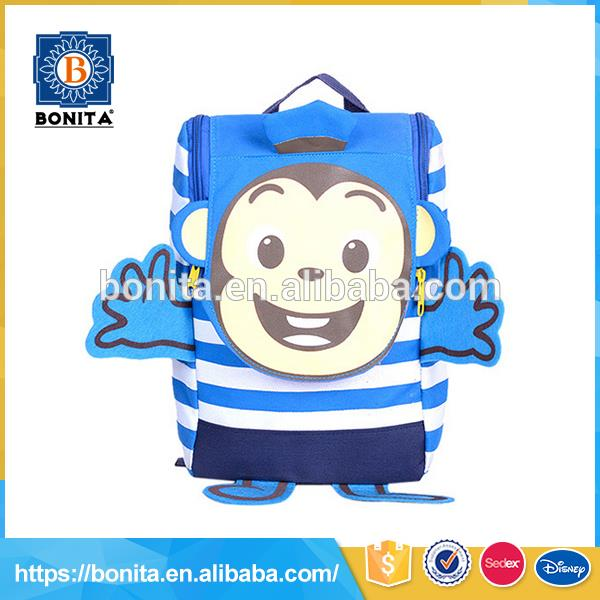 Cute animals shape design candy color school childrens back pack