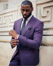 Новинка 2020, мужские костюмы, приталенный смокинг, модный бренд, деловой костюм для жениха, свадебные костюмы, блейзер (пиджак + брюки)(China)