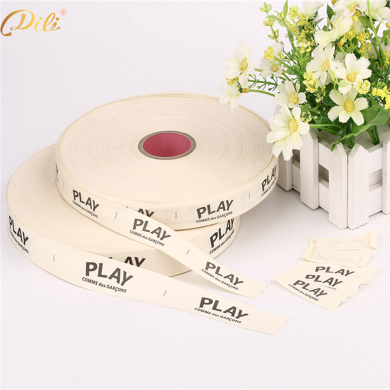 Factory Direct Sale Custom Garment Cotton Printed Label ODM Printed Clothing Webbing Tape