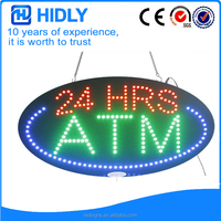 Multi color lamps 15*27inch indoor animation led custom ATM sign with chasing functions