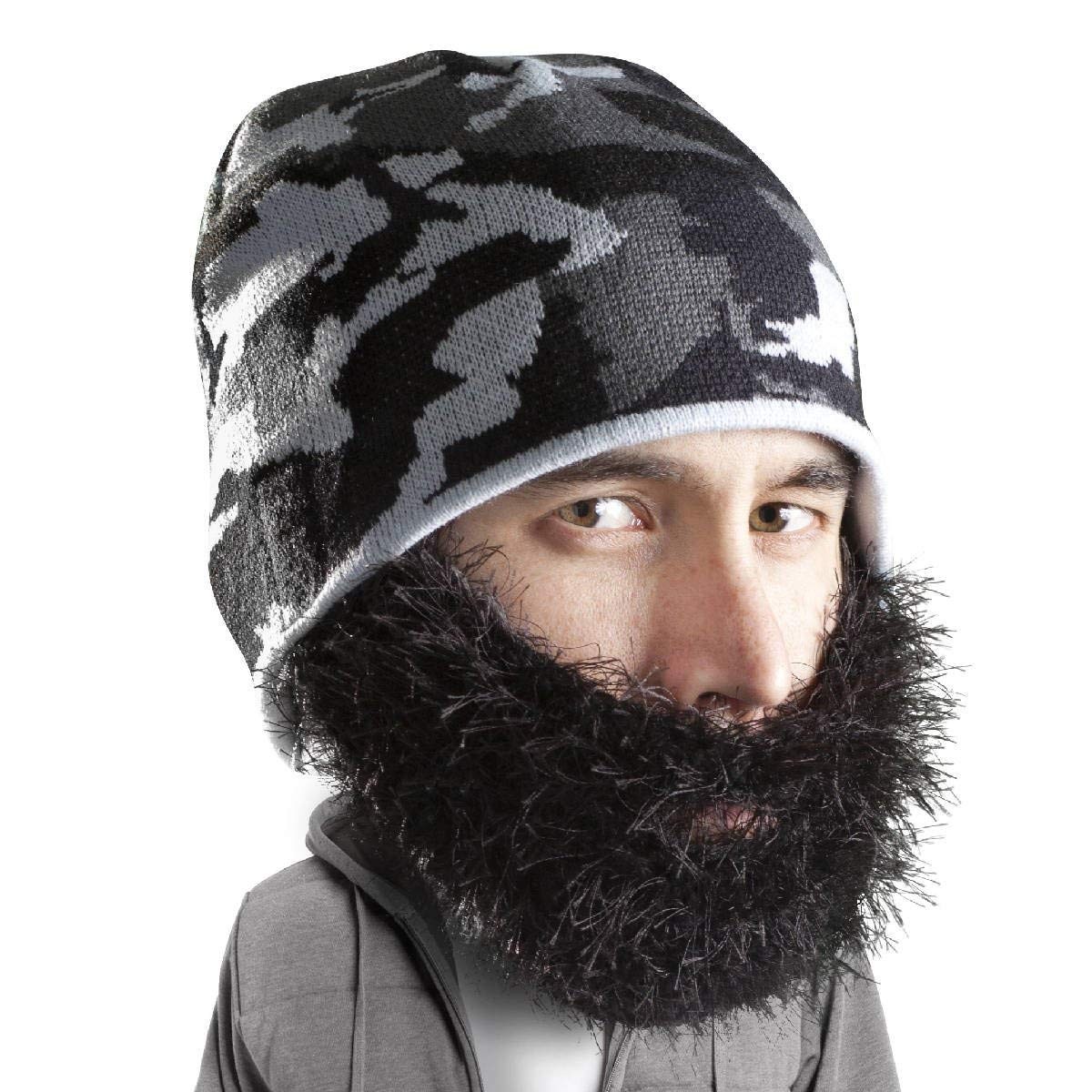 0f221a625b8 Get Quotations · Beard Head - The Original Bushy Maverick Knit Beard Beanie