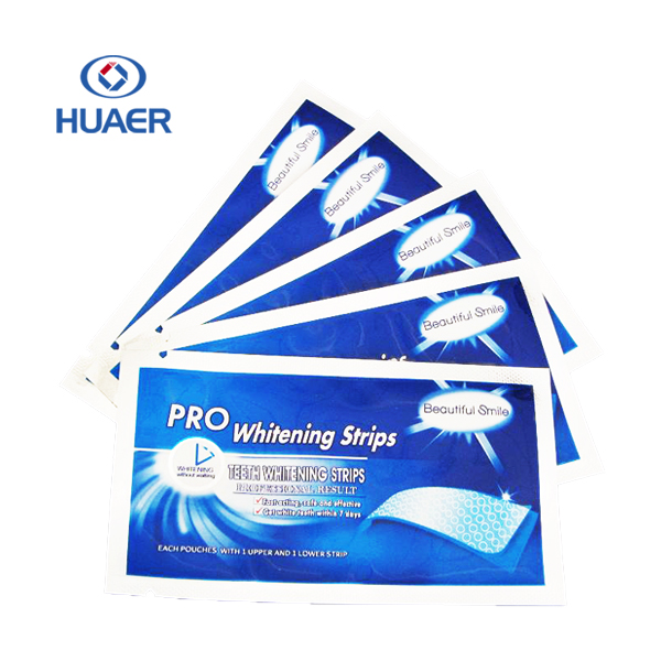 Eu compliant Non-Peroxide Teeth Whitening Strips Private Label 3D Tooth Whitening Strip