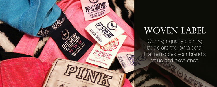 wholesale 1000 custom clothing woven label (satin woven label )