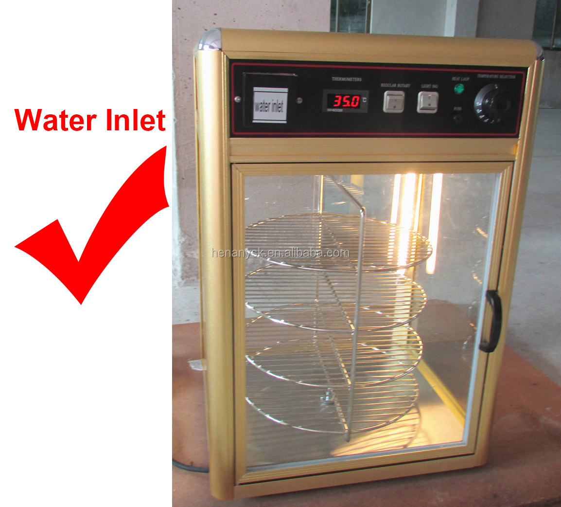 Hot Sale Food Warmer Heat Pizza Display Warmer Glass Showcase