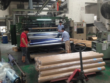 Manufacturing blue color roll pvc stretch mattress wrap film