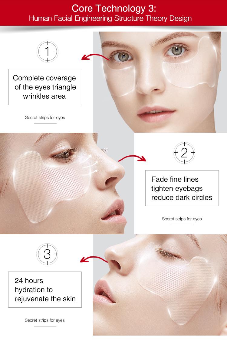 Guangzhou anti rughe gel maschera per gli occhi, Fiera di Canton caldo di vendita del prodotto idrogel benda sull'occhio
