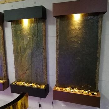 Natürliche Schiefer Wasser Wand Schiefer Wasserfall Brunnen Für Haus Und  Garten Indoor Und Outdoor - Buy Schiefer Wasserfall Brunnen,Natürliche ...
