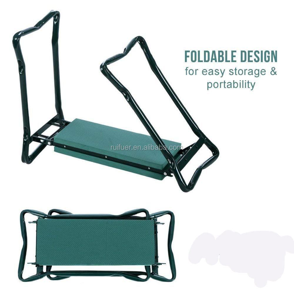 W Bonus Tool Pouch Portable Stool Eva Pad Foldable Garden