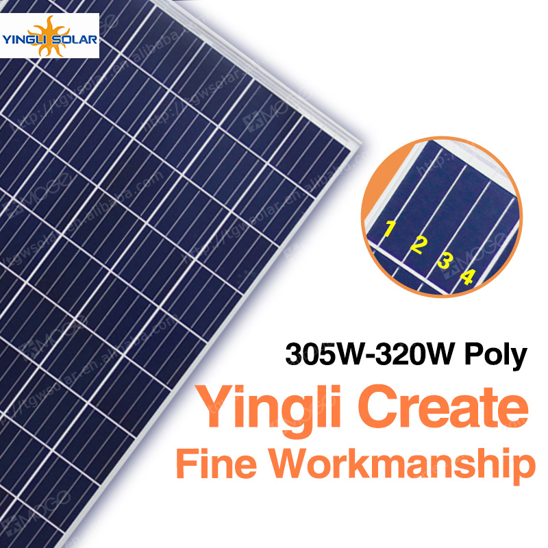China best pv supplier Yingli A grade poly 305watt solar energy panel manufacturers in china