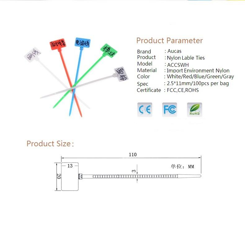 Computer Kabel Kabelbinder Etiketten Ethernet-kabel 50 Stücke Pro ...