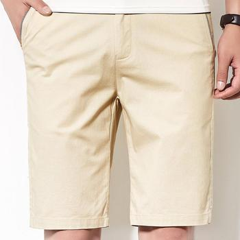 New Pure Color Micro Elastic Men's Pants Summer Shorts Men's Casual Sport Men's Casual Pants