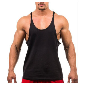 Low moq custom logo printed OEM 100 cotton custom logo tank top