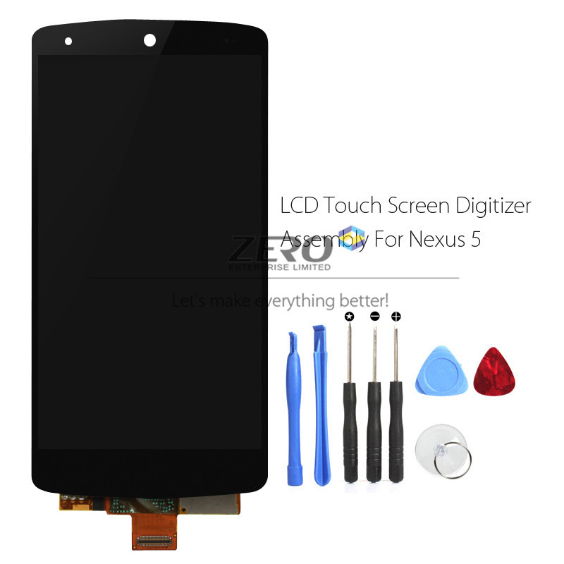 New for LG Nexus 5 LCD Digitizer Display Screen Replace for Google Nexus 5 Black Touch Screen Assembly D820 D821 E980 + Tools