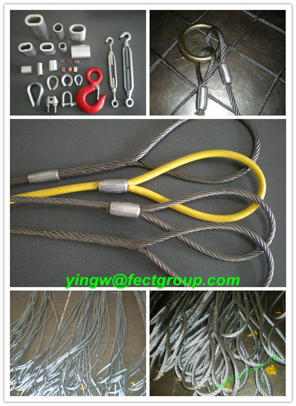 Heavy Load Capacity Lifting Wire Rope Sling/steel Wire Rope Cargo ...