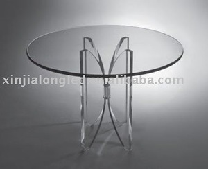 Clear Round Acrylic Chair Special Design Leisure Table Butterfly Coffee Table