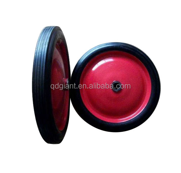 wheel barrow solid rubber wheel/tire