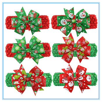 Christmas Hair Accessories Supplies Baby Christmas Ribbon Hairbands ... 83f2d38d860