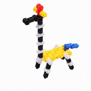 2018 Children brain teaser bright colors innovative ABS plastic interlocking toys building blocks set
