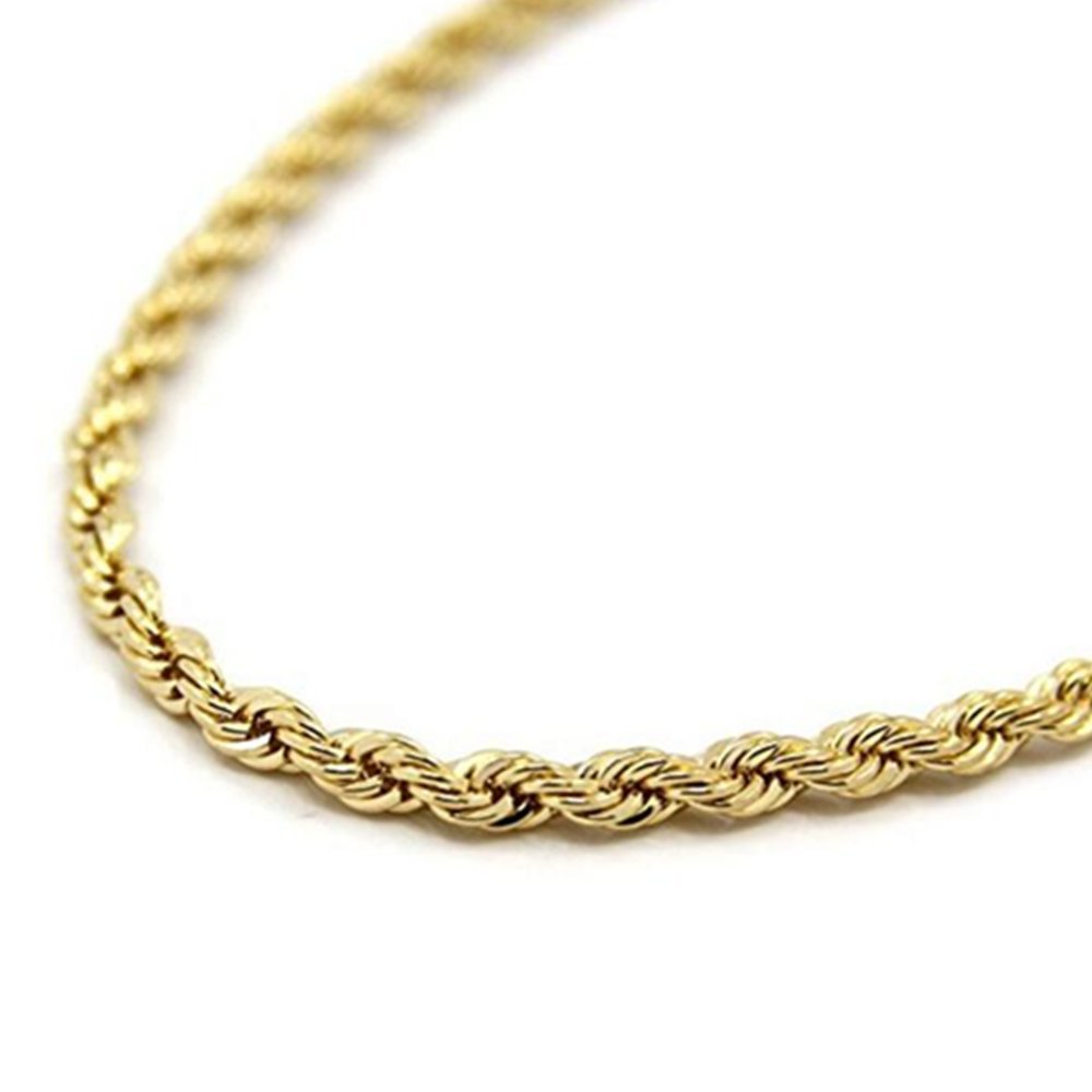 chain rope l gold necklace smooth gf chains cross women men real