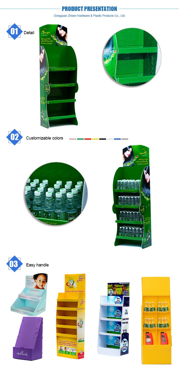 Professional PP corrugated plastic display shelf/rack in supermarket