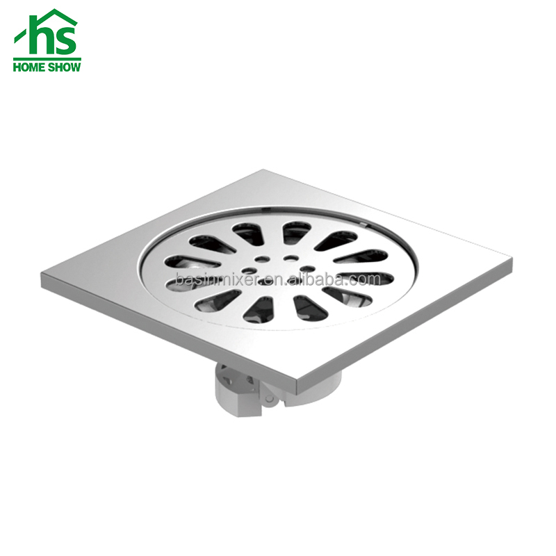 High quality 100x100mm deodorant brass floor drain