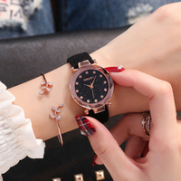 LE 359 girl watch Best Cheap Price Star Minimalist Fashion Watches For Lovers Leather Strap Lady Hours Watch 2017 wholesales