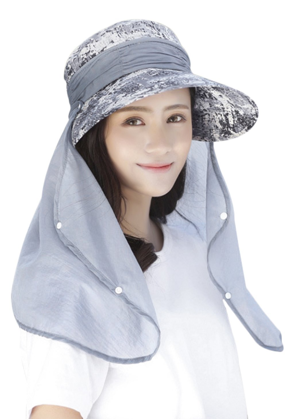 142d51599a6 Summer Outdoor 360 Degree Sun Protection Fishing Hat Quick Dry Detachable  Neck Face Shield Cover Mask
