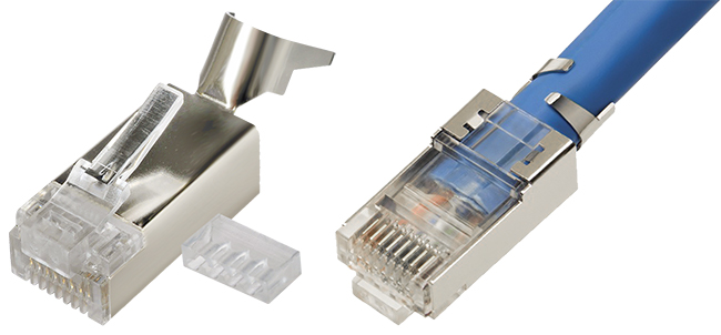 Glory Cat7 Ethernet Connector RJ45 Modular STP RJ-45 Plug Shield