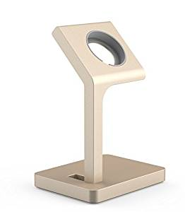 Apple Watch Stand, USAMS & Kollea iWatch Metal Charging Stand Bracket Docking Station Stock Cradle Holder for Both 38mm and 42mm