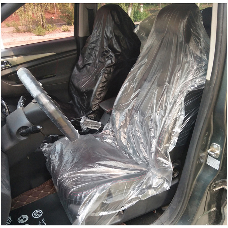 ZT-S-017 transparent plastic bags paper disposable waterproof car seat cover