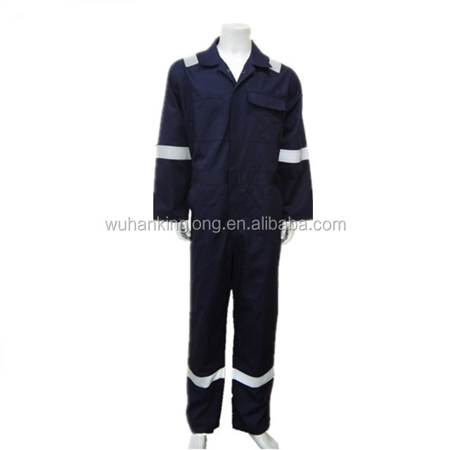 100%cotton anti-static fire-resistant clothing navy coverall