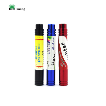 Lanchuang Manufacturers Smoking Wholesale Sales Portable Marker Pen Type Aluminum Pipe Tobacco Cigarette Filter Smoking Pipes