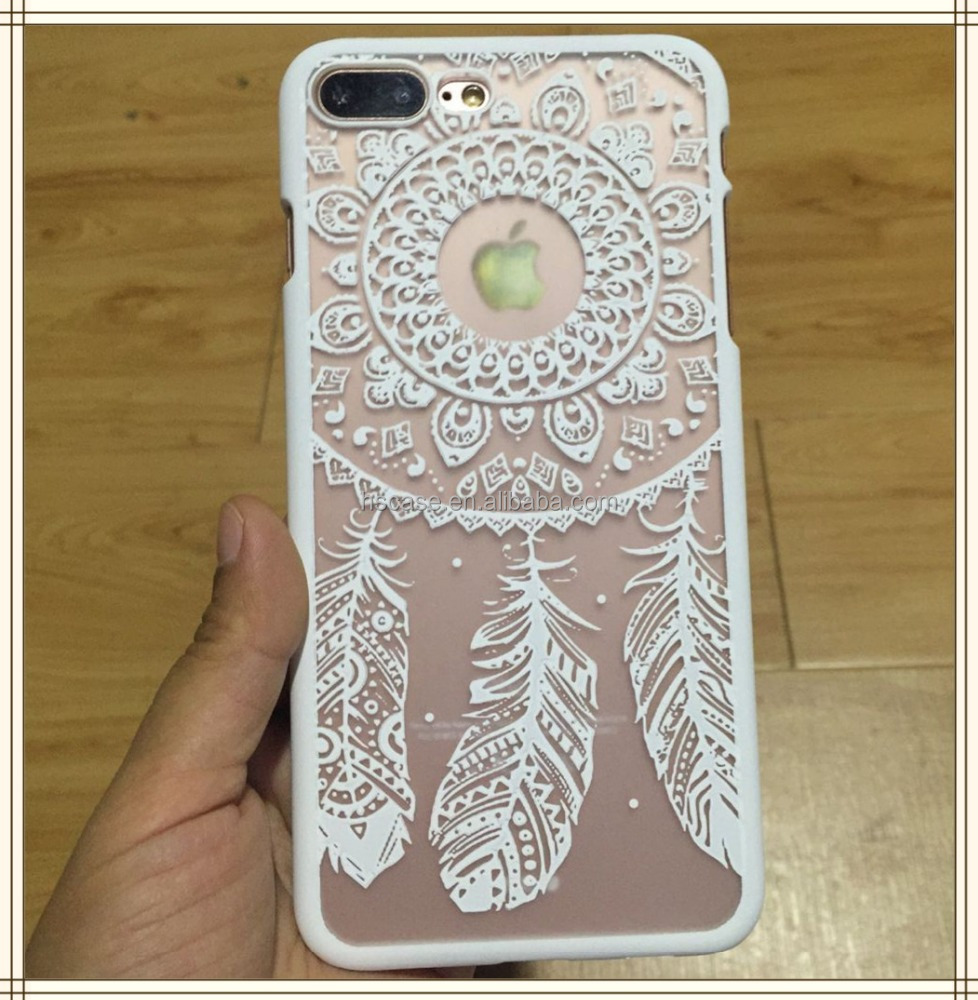 Blanc impression couleur dur polycarbonate dream catcher Téléphone Cas pour iphone 6 6 plus 7 7 plus
