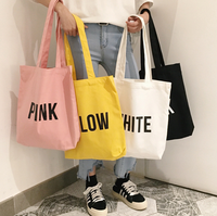 Ladies Duty Canvas Tote Bag Handmade Cotton Shopping School Travel Women Folding Shoulder Shopping Bag