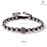 Custom Jewelry Handmade Luxury Male 316L Stainless Steel beads bracelet