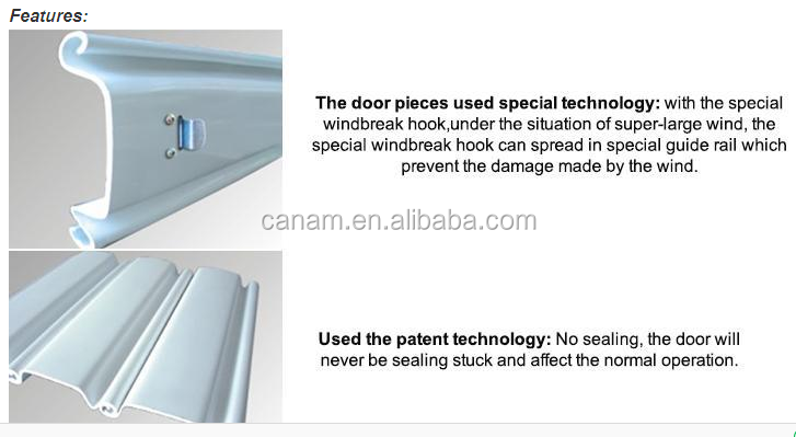 China rolling industrial windproof steel door