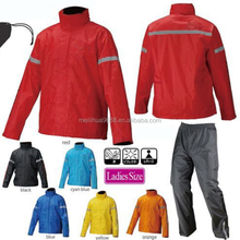 Polyester Or Nylon Waterproof Safety Reflective Golf Rain Suit Rain Gear