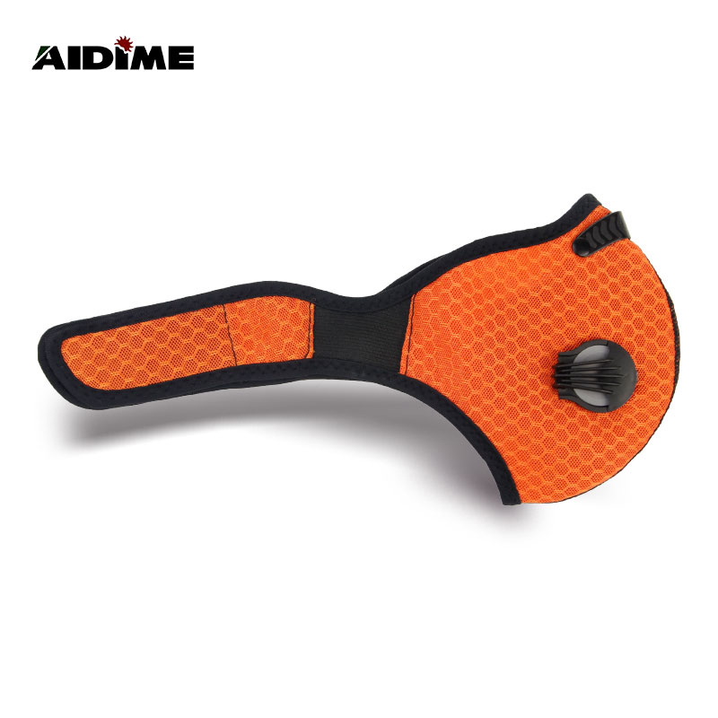 motorcycle neoprene pollution face mask free size <strong>orange</strong>
